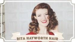 Rita Hayworth Hair Tutorial // How To Curl Your Hair [CC]
