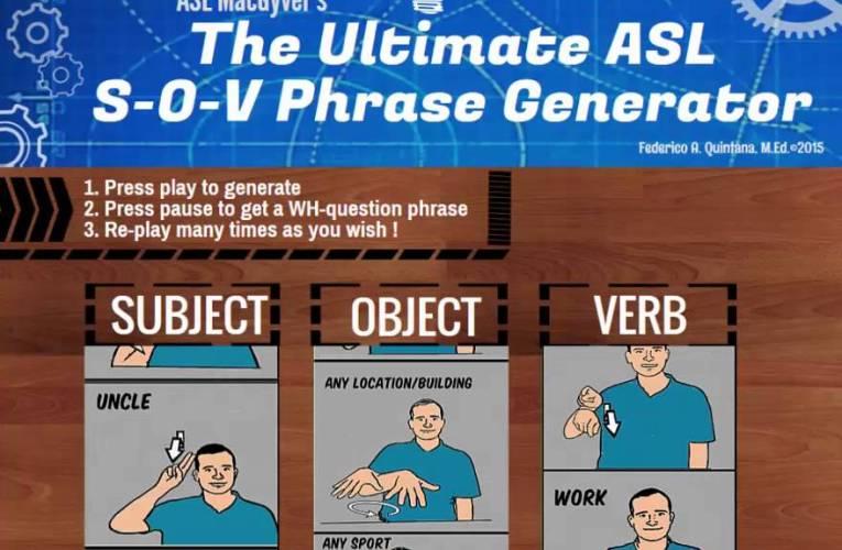 ASL SOV phrase generator