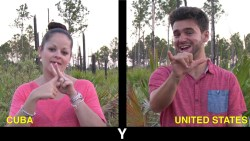 The Alphabet in Cuban Sign Language!