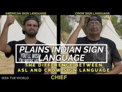 Comparing American Sign Language & Crow Sign Language (PISL)
