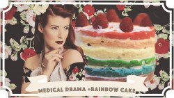 My latest hospital visit in the form of a rainbow cake // AD