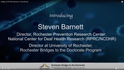 Bridges to PhD WoW Seminar: Dr. Steve Barnett