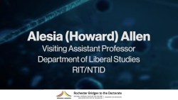 Bridges to PhD WoW Seminar: Alesia Allen
