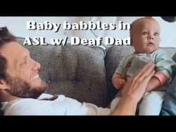 Baby Signs with Deaf Dad #shorts