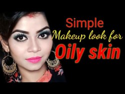 Longlasting Makeup for OILY SKIN||SIMPLE Makeup look for Oily skin|How to oily skin makeup