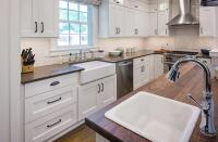 Updated Farmhouse Kitchen Integrates Butlers Pantry and
