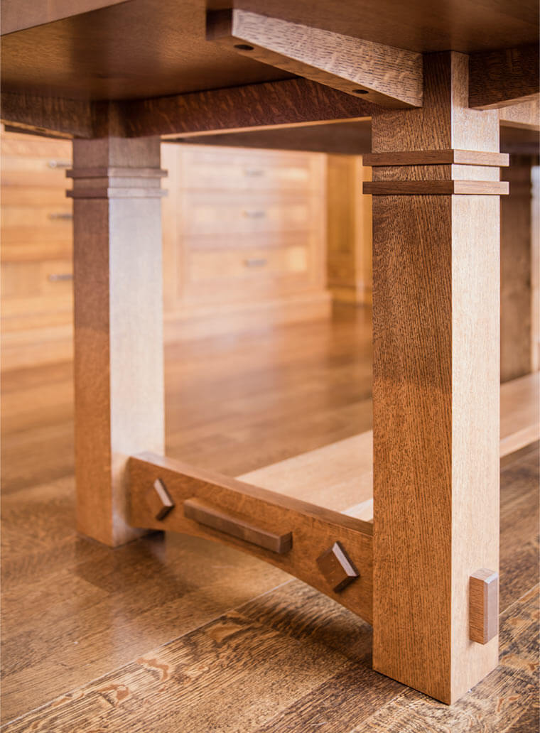 gorgeous white oak dining room table