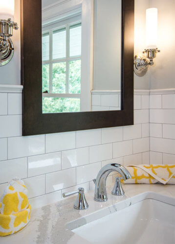 Original Flooring in a Vintage Bathroom Inspires Penny