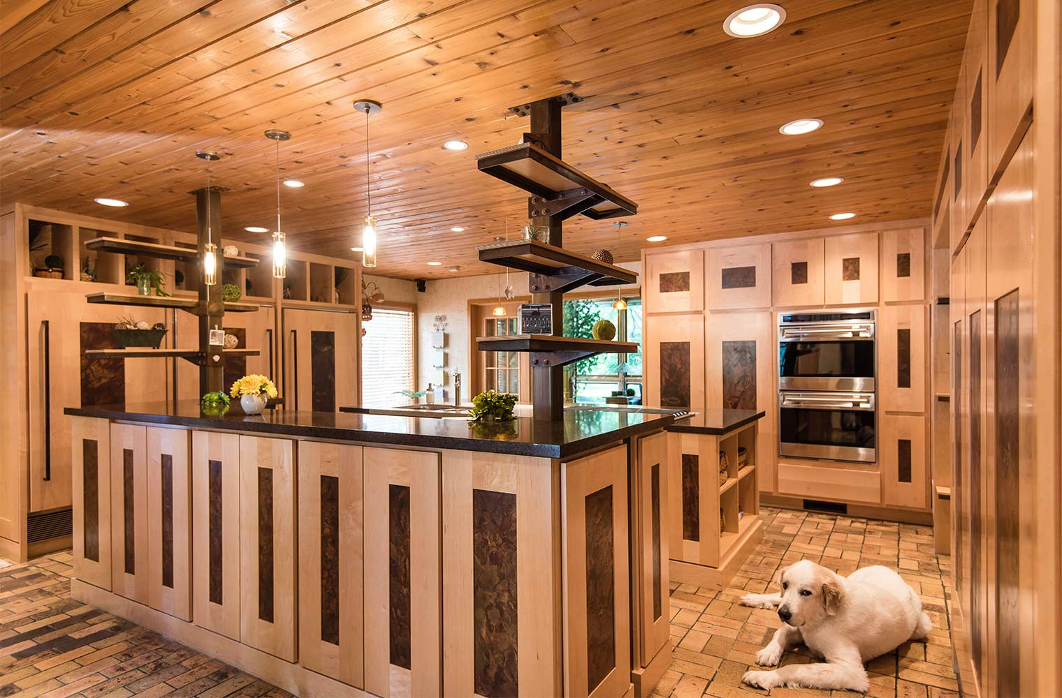 kitchen cabinets set farmhouse undermount sink maple and steel design standard in johnston home hide storage space two island with open for dog