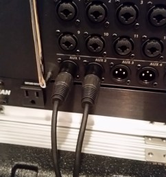 to connect things up just plug the xlr female or 1 4 ends of the y cable into your mixer s stereo linked output jacks connect a standard xlr microphone  [ 1152 x 2048 Pixel ]
