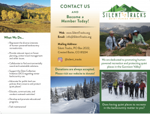 Silent tracks Digital Brochure