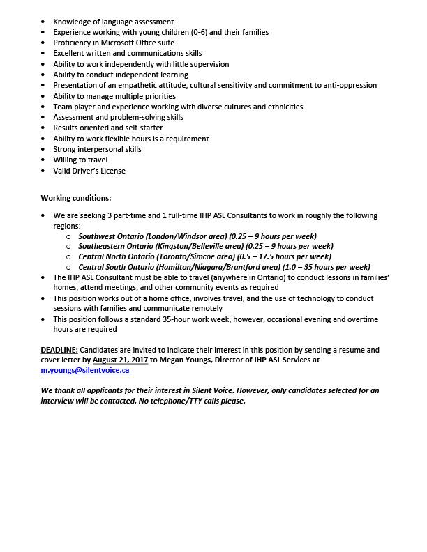 IHP ASL Services Job Posting - Page 2