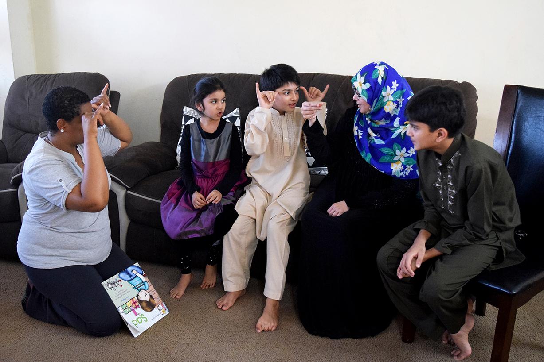 Family learning ASL