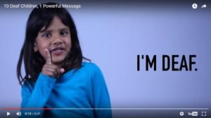 10 Deaf Children, 1 Powerful Message Image