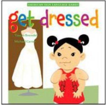 Little girl signing dress