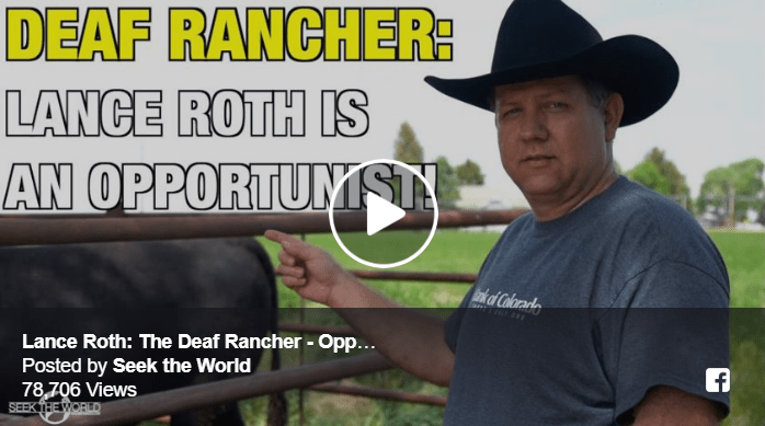 Lance Roth: The Deaf Rancher - Opportunist! Image