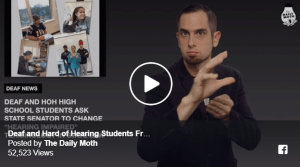 Deaf and Hard of Hearing Students From Massachusetts Ask State Senator to Change Image