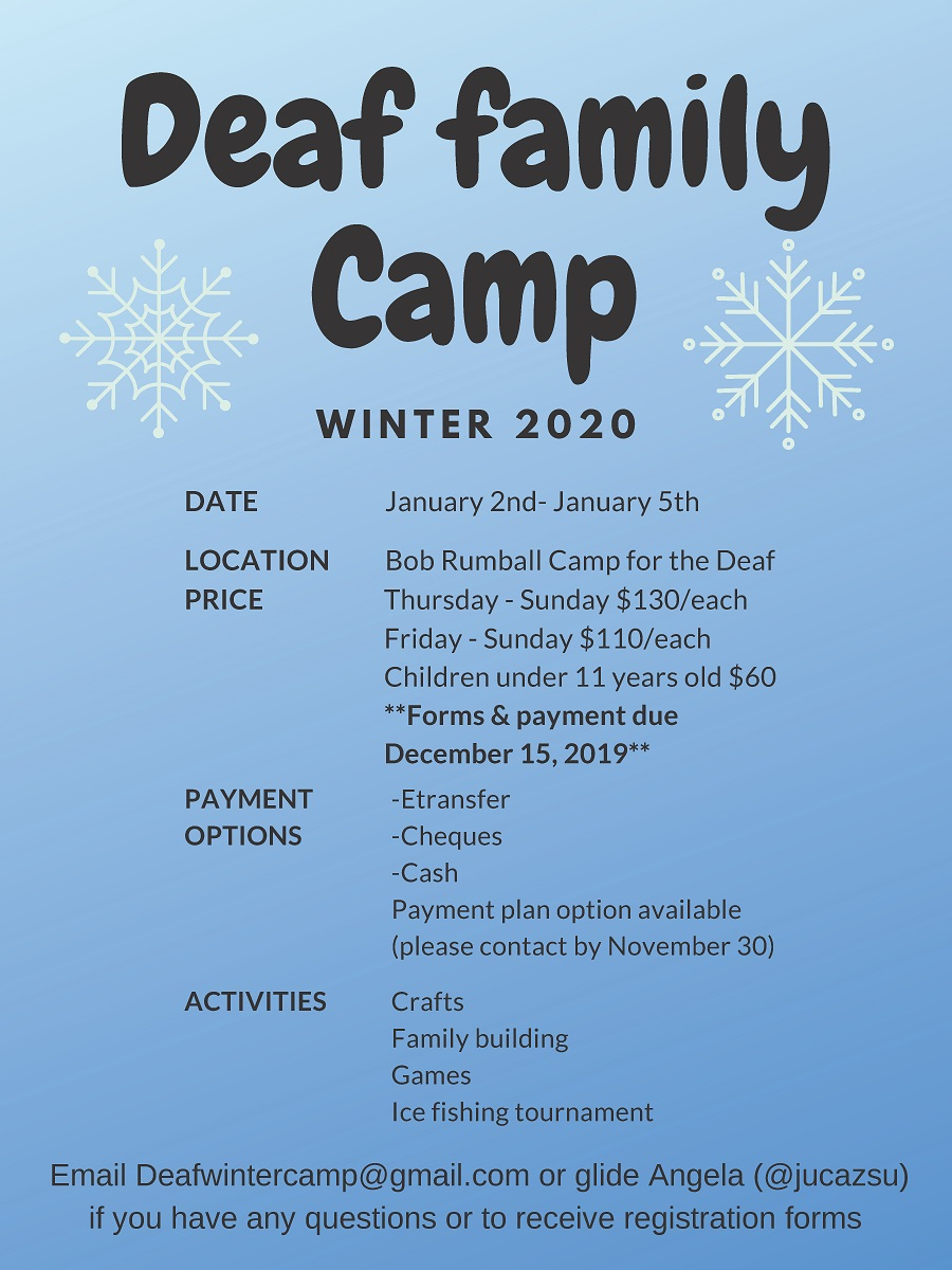 Deaf Family Camp Flyer
