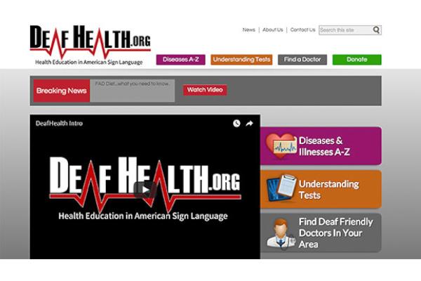 Screenshot of Deaf Health website