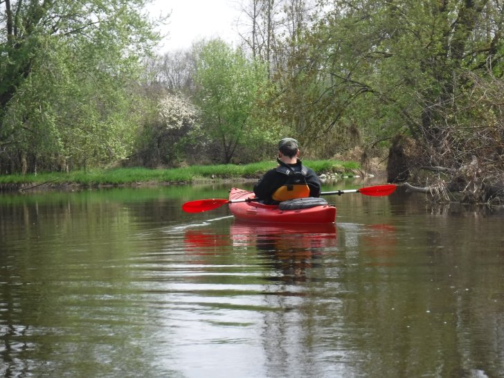 Taking in the early spring colors on the Milwaukee River