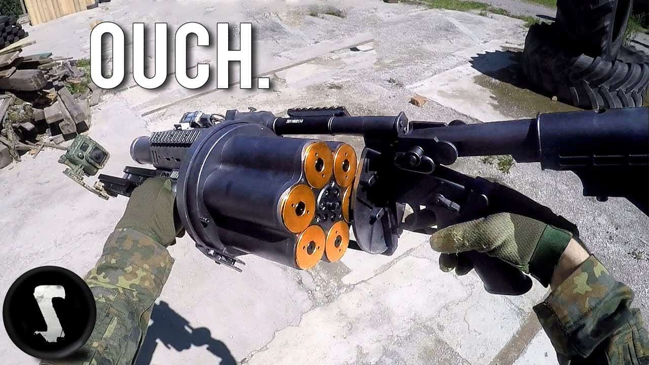 Possibly the Most Painful Airsoft Gun in Existence (40mm Grenade Launcher) - Silentwisher Entertainment