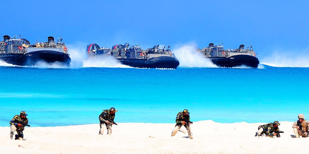 This is What Modern D-Day Would Look Like: US Massive Beach Landing During Training LCAC