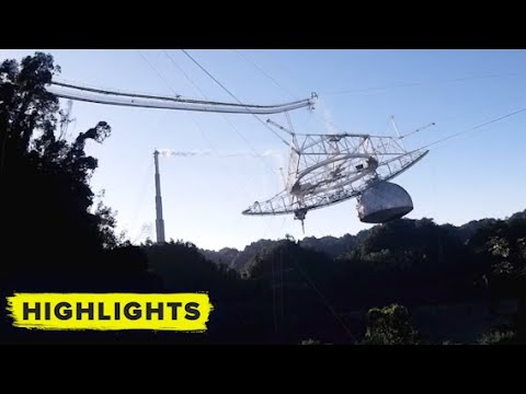 Watch the Arecibo Observatory's catastrophic collapse!