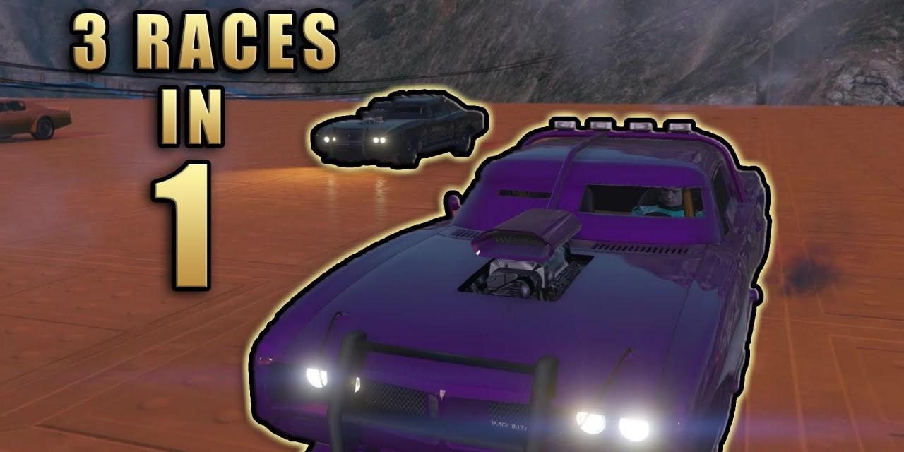 3 Races In 1 – GTA Online Stunt Racing