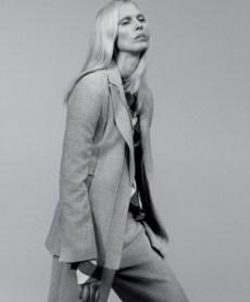 Boss jacket and pants, Victoria Beckham top.