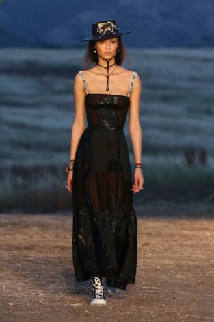 Mandatory Credit: Photo by Katie Jones/WWD/REX/Shutterstock (8818801bl) Model on the catwalk Dior Cruise Collection 2018 show, Runway, Los Angeles, USA - 11 May 2017