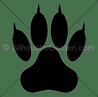 lion paw print silhouette