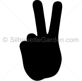 Peace Hand Silhouette