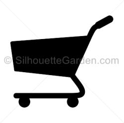 silhouette shopping cart clip paper silhouettegarden piecing crafts silhouettes pdf carts tissue golf