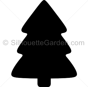 simple christmas tree silhouette