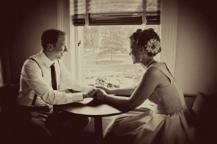 Wedding Theme 50's Bride and Groom