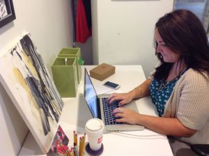 Lauren Lagarde enjoys the customized office space she shares with the NOFC team.