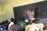Teaching students at Equator Boys High school