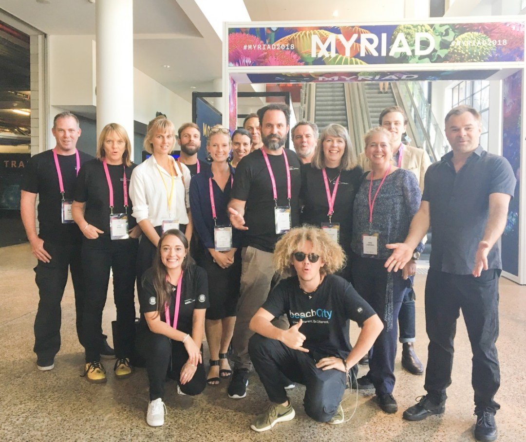 Sunshine Coast representatives at Myriad 2018