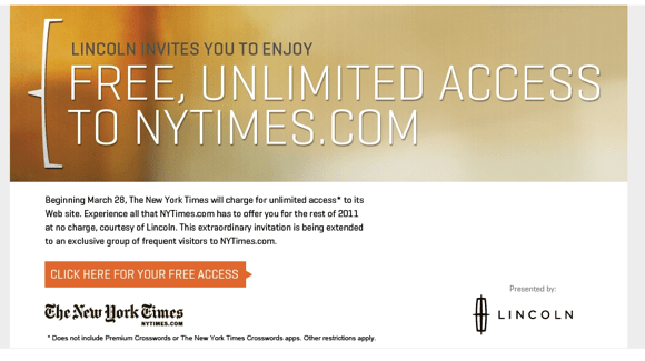 NY Times Advertisement