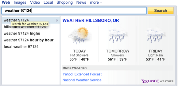 Weather yahoo direct