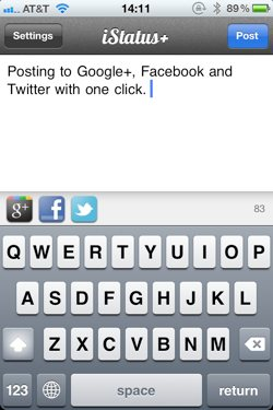 Istatus iphone update google plus