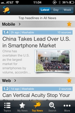 Riversip tech news reader iphone