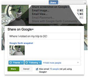 Start Up Tip sharing google earth
