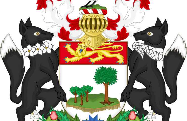 The coat of arms of Prince Edward Island, Canada