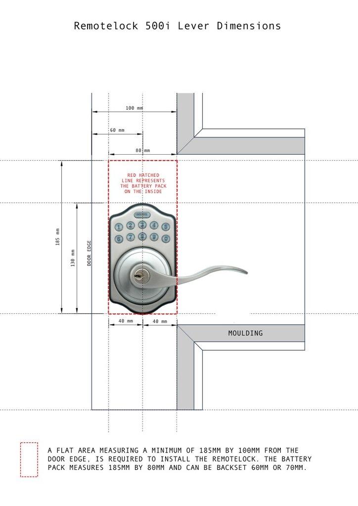 image dimension 500i lever door