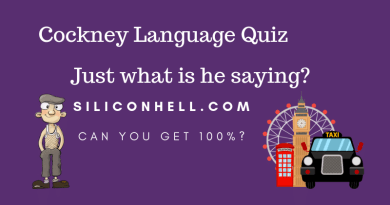 Siliconhell Cockney Language Quiz