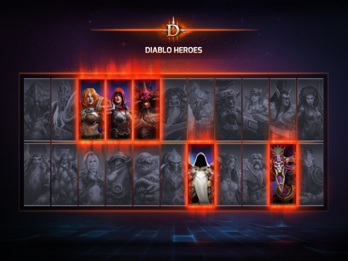 Heroes Character Selection