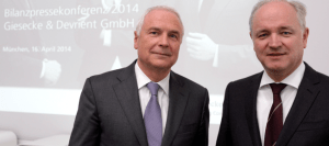 G&D's Chairman Walter Schlebusch and CFO Peter Zattler