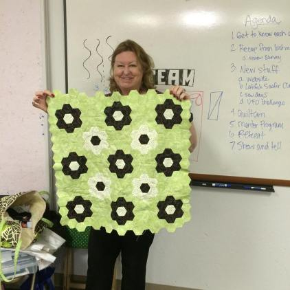 Michele shows off her EPP project.