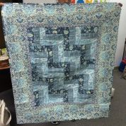 A lovely first quilt in fabulous blues and teals! by siliconvalleymqg